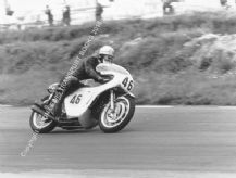 Honda RC166 250cc 6 cyl  Mike Hailwood Snetterton 1967.Photo